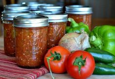 cooked canned salsa (without hot water bath)