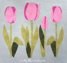 tulip applique templates - Google Search