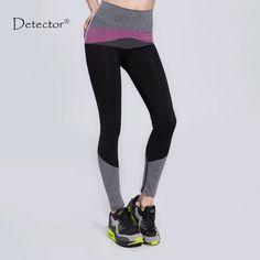 52b16c402774d Detector Women Yoga Pants High Elastic Quick Dry Fitness Yoga Pants Fitness Women  Running Pants Sports leggings
