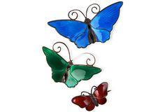 Scandinavian Butterflies, Set of 3, II on OneKingsLane.com