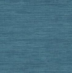 Sea Grass Blue Grasscloth Wallpaper