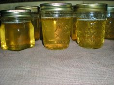 Honeysuckle Jelly - tastes just like the blossoms smells, absolutely delicious!