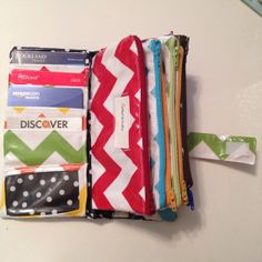 Cash system envelope wallet with zipper pockets - for those who use the Dave Ramsey Method.