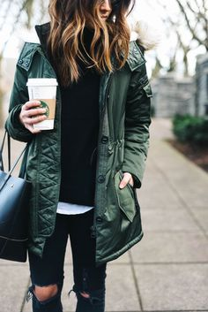 green jacket for fall //