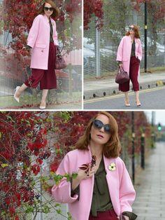 С чем носить розовое пальто фото на lookagram.ru