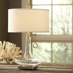 The Campbell Glass 29 H Table Lamp at Birch Lane.