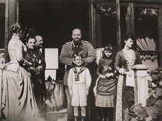 Alexander III with his wife Maria Feodorovna and children Mikhail and Xenia.