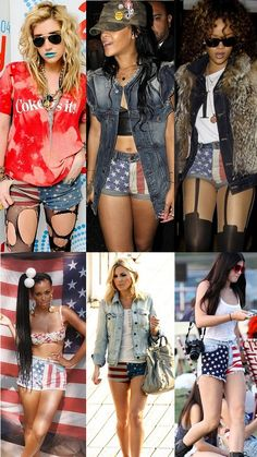 Tutorial on how to make your own US Flag Denim Shorts