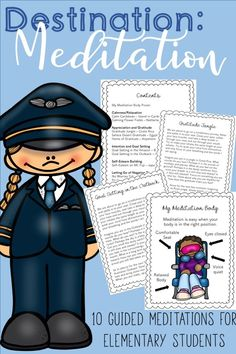 10 guided meditations around the world! Guided meditations for elementary students and kids Elementary School Counselor, Elementary Schools, School Counseling, Meditation Benefits, Guided Meditation, Mindfulness Meditation, Mindfulness Activities, Mindfulness For Kids, Mindfulness Practice