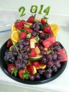 Graduation Fruit Tray, fruit arrangement, diy fruit ideas