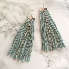 Make these beautiful sparkly fringe earrings in just 30 minutes or less!