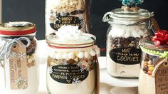 Cookie-Mix Jar Gifts made w/ @Beth J Rubin Crocker cookie mixes! // @Cindy | Hungry Girl Por Vida for @Beth J Rubin Crocker