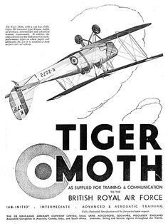 Historic British Aviation Advertisements classic British aircraft industry adverts for you to browse through and enjoy. Aviation Industry, Aviation Art, Wooden Airplane, Tiger Moth, Nice Art, Royal Air Force, British Royals, Planes, Art Photography
