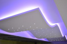 Wavy ceiling made of mini diode with colorful backlight Plasterboard, Ceilings, Waves, Colorful, Led, Mini, Design, Ocean Waves
