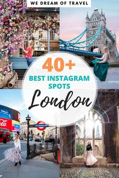 The most Instagrammable places in London.  40+ Epic Photo Spots in London for beautiful Instagram shots.  This travel guide will help you find out when to go, exactly where to go (including map) and how to get the best Instagram photos. Europe Destinations, Europe Travel Guide, Travel Guides, Travelling Europe, Amazing Destinations, Scotland Travel, Ireland Travel, France, London Places