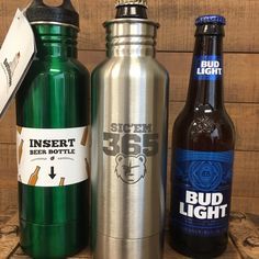 Personalized bottle keepers! Personalized these beer holders with names, logos, quotes, monograms or anything else you would like! Keep your beer colder for longer!