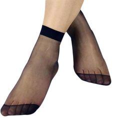 Calcetines 10 Pairs Socks Women Crystal Thin Transparent Thin Silk Socks #2989