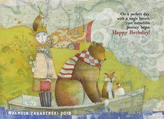 440 INCREDIBLE JOURNEY  Birthday Card by PamelaZagarenski on Etsy