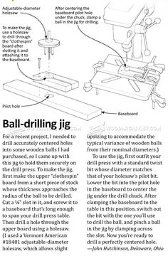 Ball Drilling Jig - Drill Press