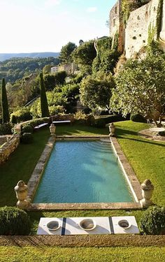 Articles published in the journal of the Mediterranean Garden Society: ~ T he. - Lazarus Douvos - - Articles published in the journal of the Mediterranean Garden Society: ~ T he. Swimming Pool Designs, Swimming Pools, Dream Pools, South Of France, Cool Pools, Water Features, Outdoor Living, Beautiful Places, Landscape