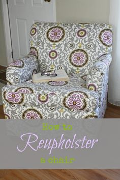 A Side of Sunshine: How to Reupholster a chair: Great tutorial!