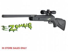 The Gamo Zombie IGT Air Rifle is a new air rifle in the Gamo air rifle range. This full power rifle provides 12ft lbs of power, making it suitable for vermin control.  THE MOST QUIET GUN EVER!  Incorporates the new IGT system. The spring mechanism has been changed to a piston system, enhancing the quality of this air rifle.