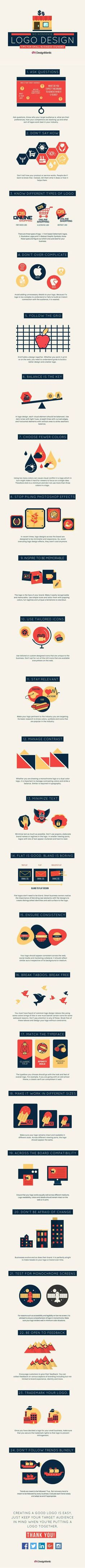 24 No-Nonsense Logo Design Tips for Small Business Owner [Infographic]