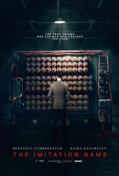 The Imitation Game Poster. I think this film wouldn't be in the theatres of my country for sure, I wanna watch it so badlyyyyyyyyyyyy! Why they just don't think that brainy is so much more sexy than that glittered vampire or muscular werewolf!?
