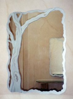 Barren Branches Custom Mirrors With Etched Glass Designs By Sans Soucie Polished Beveled Or