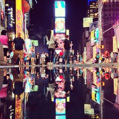 Times Square reflected. #NYC