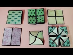 hey guys in this video we are going to show you 6 different cards tutorial for scrapbook.you can also use these cards in explosion box. Origami Cards, Paper Crafts Origami, Scrapbook Paper Crafts, Handmade Scrapbook, Diy Paper, Mini Scrapbook Albums, Scrapbook Cards, Ideas For Scrapbook, Scrapbooking Ideas