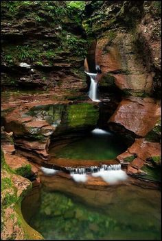 """Swimmin' Hole"" - Adams Falls, Ricketts Glen State Park, Pennsylvania - Such a beautiful place! One of my favorite places ever. Oh The Places You'll Go, Places To Travel, Places To Visit, Travel Stuff, State Parks, Fjord, Day Trips, Weekend Trips, Vacation Spots"