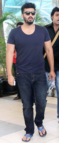 Arjun Kapoor spotted at Mumbai airport. #Bollywood #Fashion #Style #Handsome