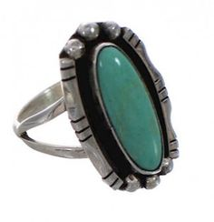 """MATERIALS: Sterling silver and Kingman Turquoise. MEASUREMENTS: Ring is size 7-1/4, it measures approximately 7/8\"""" lo.....Price - $55.99-aITlRWn9"""