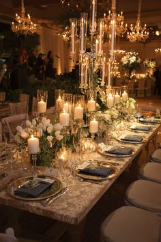Table Awash with Candlelight Photography: Mikel Healey Photography Read More: w. Table Awash with Wedding Table, Our Wedding, Wedding Venues, Dream Wedding, Wedding Dinner, Party Wedding, Floral Wedding, Wedding Flowers, Deco Table