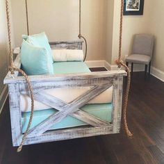 DIY Couch Swing--for sure in new house!! Swinging couch!!