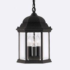 """3 Light Pendant for Porch, $53.55 @ 15"""" h x 9.5"""" dia"""