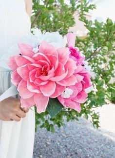 Handmade paper flower bouquet paper flower by JJLeatherAndCraft