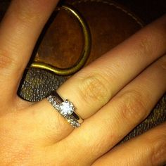 .@brookequttaineh | Loving my new wedding band!  #nofilter  #marriage #zales | Webstagram