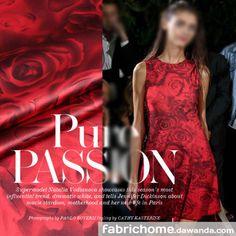 Stof Zijden,Spandex Satijn,rood roos,Stof bloemen van Fabrichome op DaWanda.com