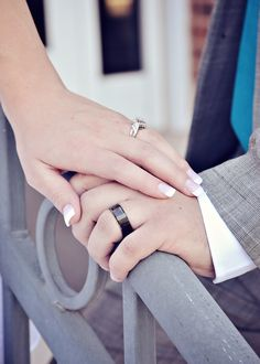 Wedding photo showing the rings