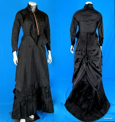 All The Pretty Dresses: 1870's Black Bustle Era Outfit