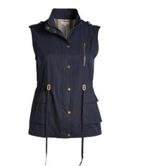 Blu Pepper Navy Drawstring-Waist Vest (1.730 RUB) ❤ liked on Polyvore featuring plus size women's fashion, plus size clothing, plus size outerwear, plus size vests, plus size, military style vest, plus size vest, zip vest, blu pepper and vest waistcoat
