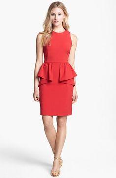 MICHAEL Michael Kors Sleeveless Peplum Dress (Regular & Petite) available at #Nordstrom
