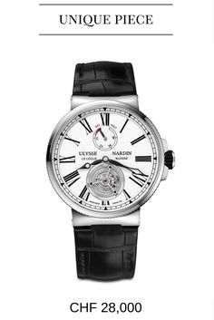 Buy Ulysse Nardin Marine Tourbillon Watches, authentic at discount prices. Complete selection of Luxury Brands. All current Ulysse Nardin styles available. Cool Watches, Watches For Men, Men's Watches, Black Watches, Unique Watches, Dress Watches, Latest Watches, Casual Watches, Ulysse Nardin