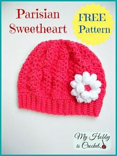 Parisian sweetheart slouch hat for a toddler / little girl 2-5 years ::  free crochet pattern :: oh so adorable!