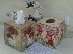 Pañuelero Tissue Box Covers, Tissue Boxes, Kleenex Box, Ideas Para, Folk Art, Diy And Crafts, Decorative Boxes, Shabby, Inspiration