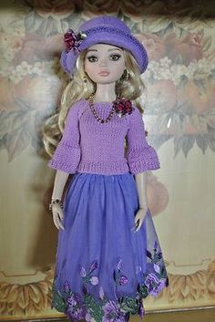 Hand Made Purple Ellowyne Wilde Outfit Including Shoes | eBay Ends 10/15. Sold for $66.00.