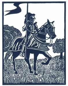 VICTORY Knight linocut by Lev by WingedLion on Etsy, $20.00