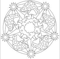 TARDOR MANDALES House Colouring Pages, Printable Coloring Pages, Coloring Pages For Kids, Coloring Books, Printable Worksheets, Free Printable, Printables, Doodle Coloring, Mandala Coloring